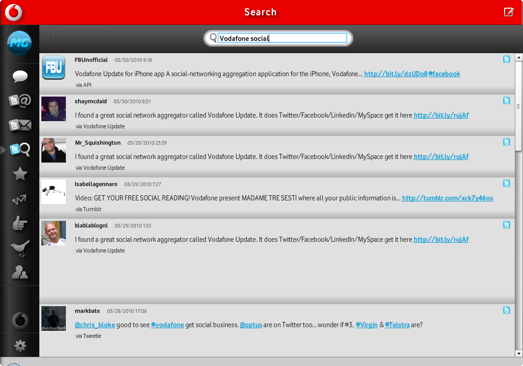 Vodafone Launches Social Networking Application for various