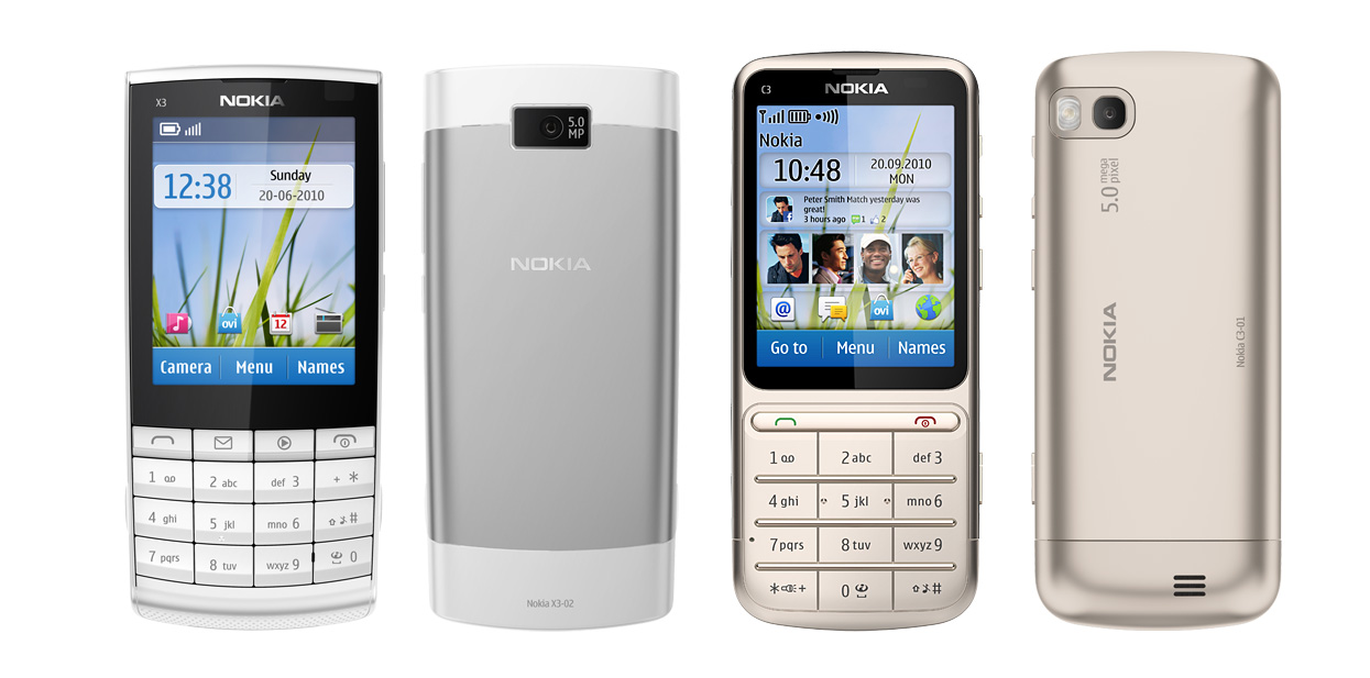 Nokia X3-02 and C3-01