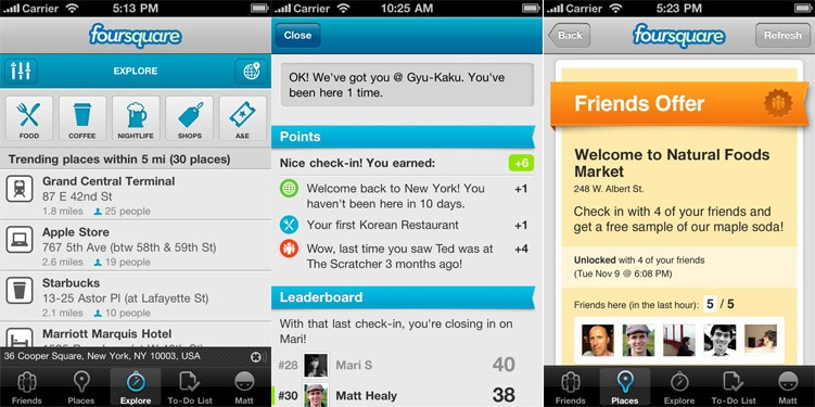 forusquare 3.0 for Android and iOS