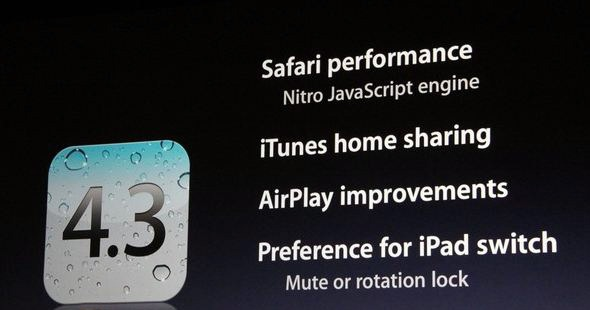 Features of iOS 4.3