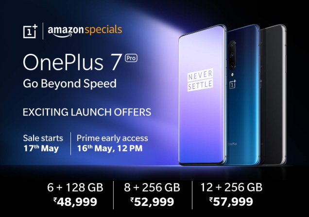 OnePlus 7 Pro Launched in India Starting at Rs. 48,999