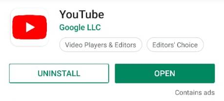 update-you-tube-android-app